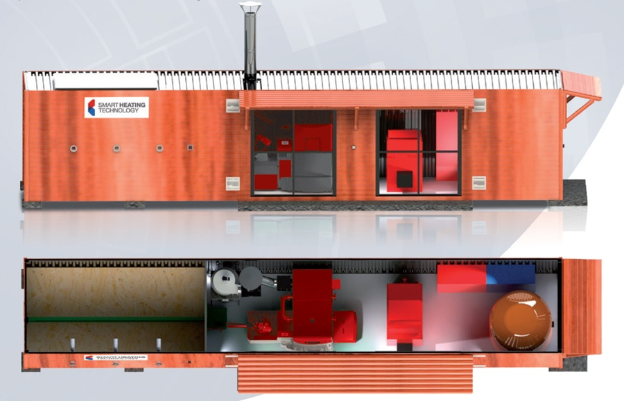 Biomass Heating System ~ Biomass container solutions containerised boiler